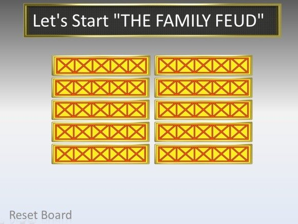 Family Feud PowerPoint Template - family feud power point template