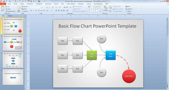 Ultimate Tips to Make Attractive Flow Charts in PowerPoint - flowchart template