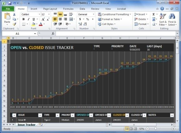 Track Project Issues With Project Issue Tracker Template For Excel - project prioritization template