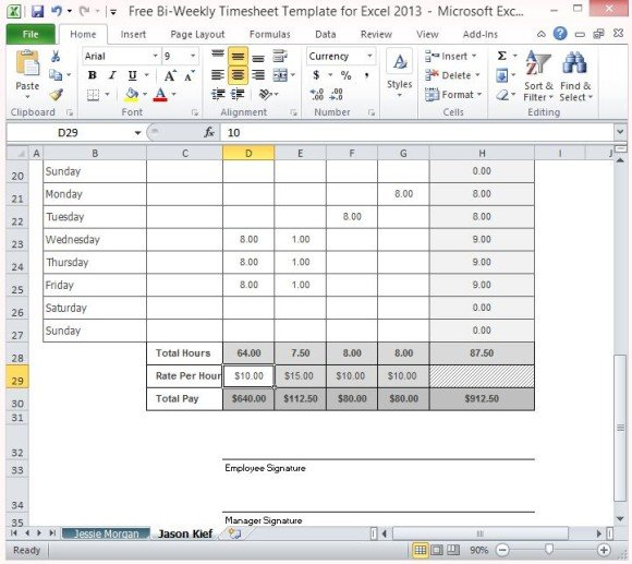 Employee Timesheet Depending On How The Employeeu0027S Employee - sample payroll timesheet