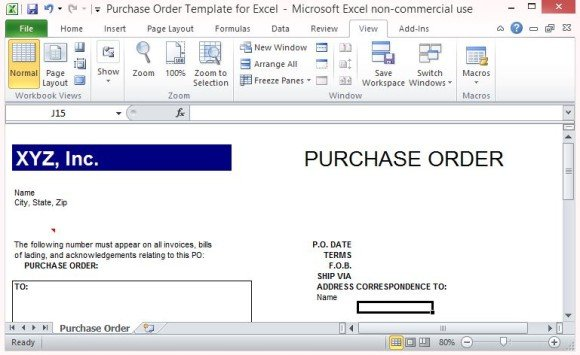 Microsoft Excel Order Form Template - mandegarinfo