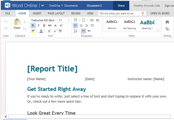 Free Student Report Template For Word Online - it report template