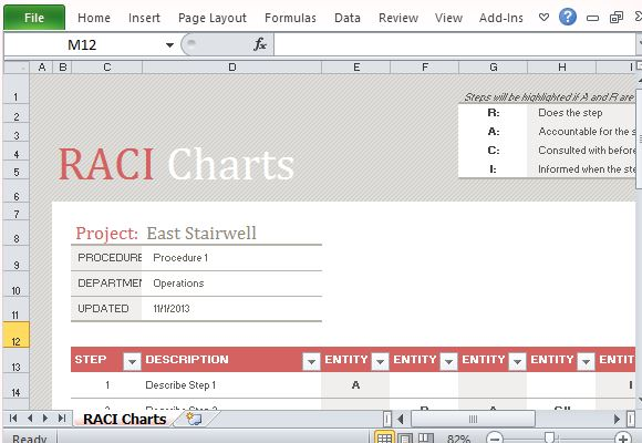 raci chart template excel