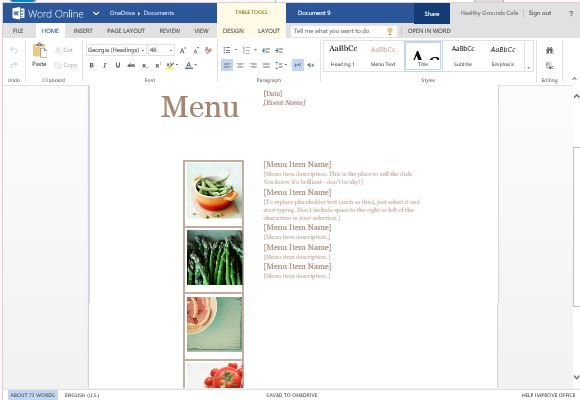 Best Menu Maker Templates For Word - free menu templates for microsoft word