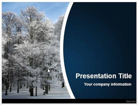 Winter Powerpoint Template Download Free Winter Powerpoint Template