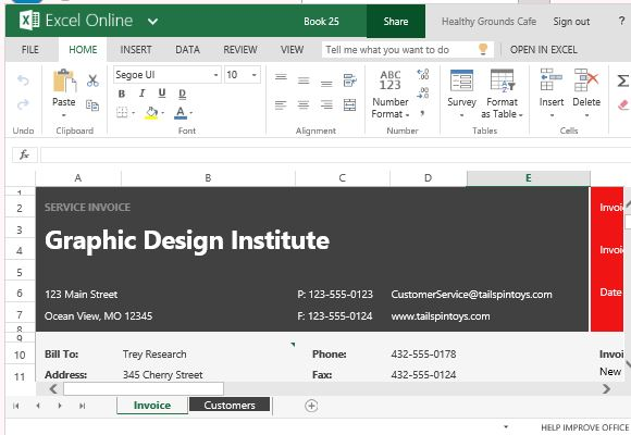 Free Service Invoice Template For Excel - how to create an invoice on excel