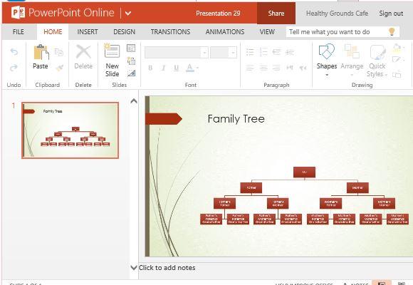 Family Tree Chart Maker Template For PowerPoint Online - family tree chart template