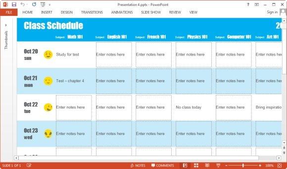 create class schedule - Romeolandinez - create schedule