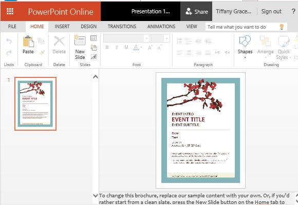 Spring Flyer Template For PowerPoint Online - powerpoint flyer template