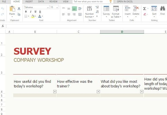 powerpoint survey template
