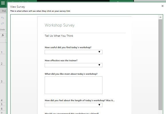 Microsoft Excel Survey Template - mandegarinfo
