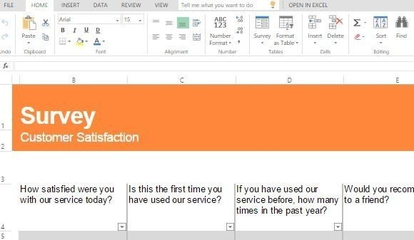 Customer Satisfaction Survey Template For Excel - survey form template