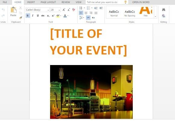Party Event Flyer Template For Word - powerpoint flyer template