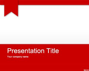 Free Red Academic Powerpoint Template