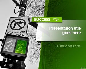 Free Road To Success Powerpoint Template