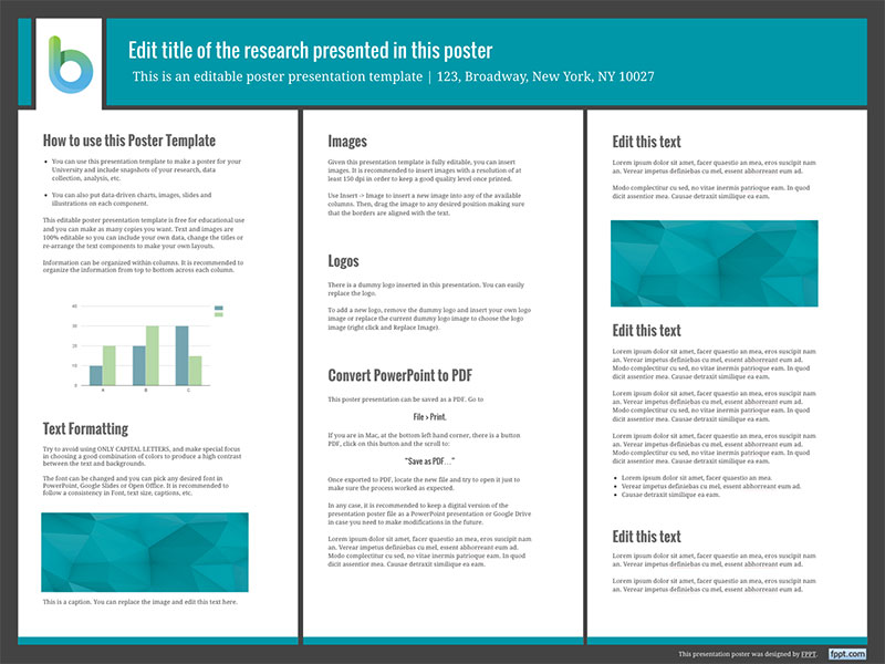 Presentation Poster Templates - Free PowerPoint Templates