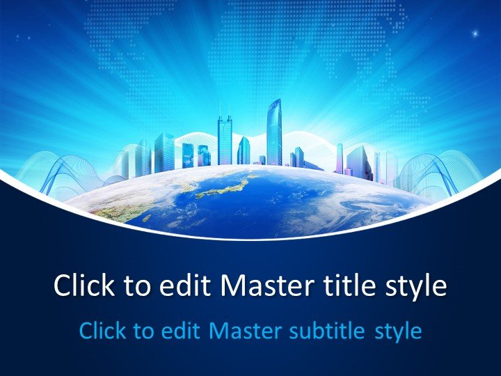Free Business World PowerPoint Template - Free PowerPoint Templates