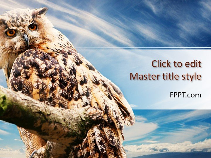 Free Owl PowerPoint Template - Free PowerPoint Templates