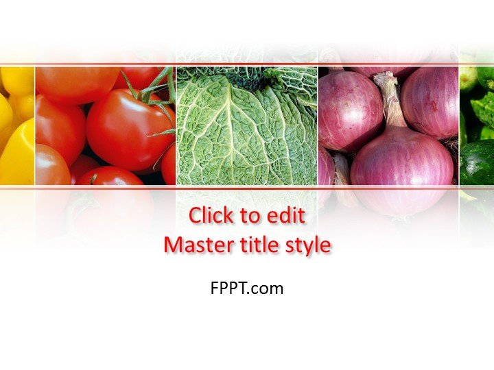 Free Green Groceries PowerPoint Template - Free PowerPoint Templates