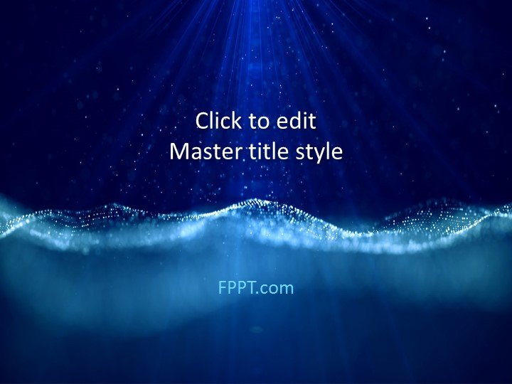 Free Ocean PowerPoint Templates - cool blue backgrounds for powerpoint