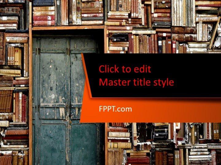 Free Bookshelf PowerPoint Template - Free PowerPoint Templates
