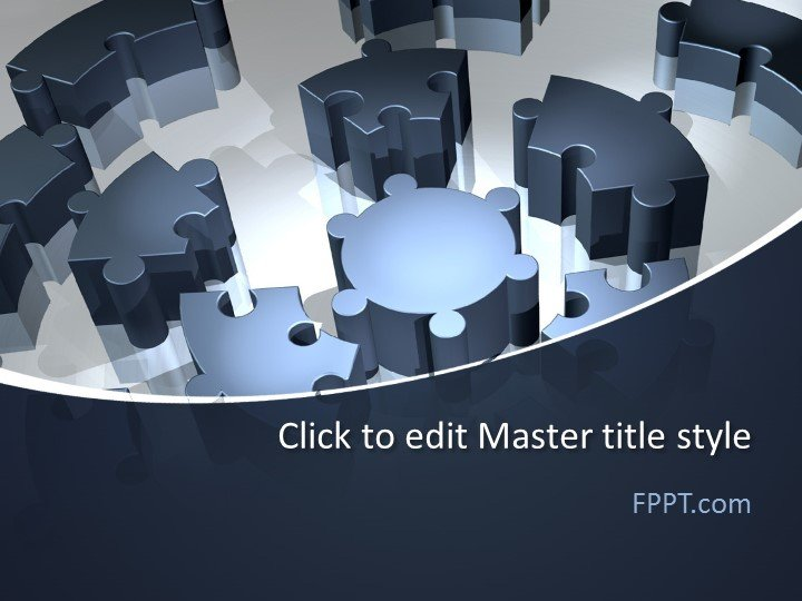 Free 3D Puzzle PowerPoint Template - Free PowerPoint Templates - puzzle powerpoint template