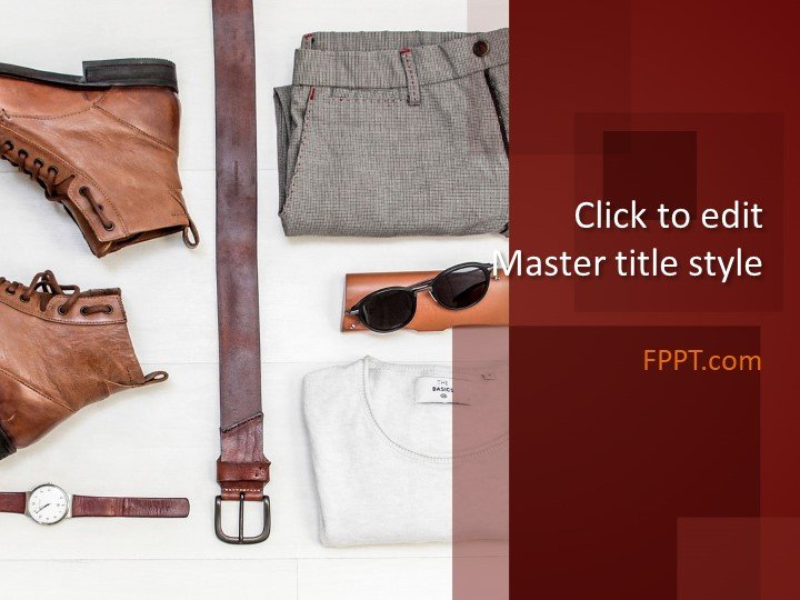 Free Men\u0027s Clothing PowerPoint Template - Free PowerPoint Templates