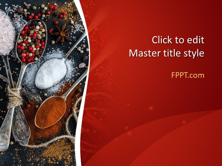 Free Spicy Food PowerPoint Template - Free PowerPoint Templates - free powerpoint graphics templates