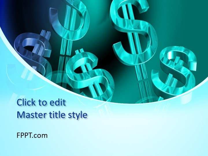 Free Money PowerPoint Template - Free PowerPoint Templates - money background for powerpoint