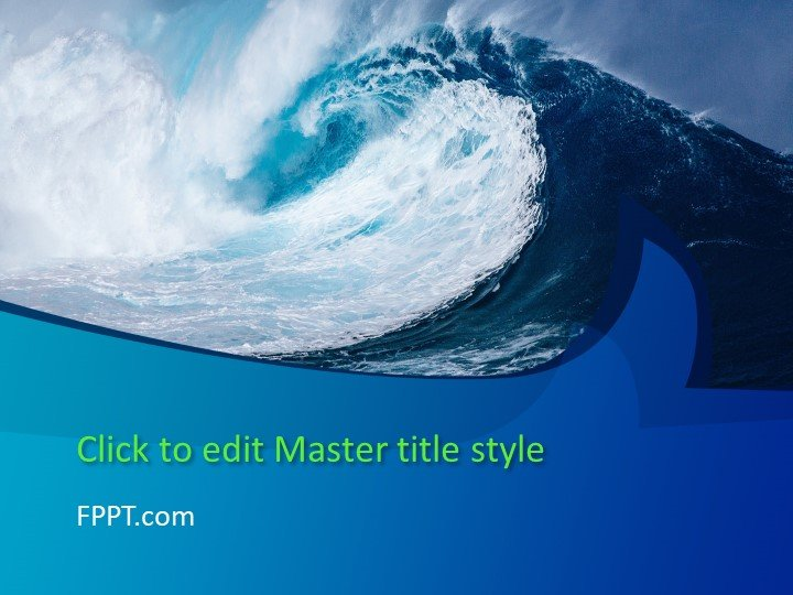 Free Big Wave PowerPoint Template - Free PowerPoint Templates