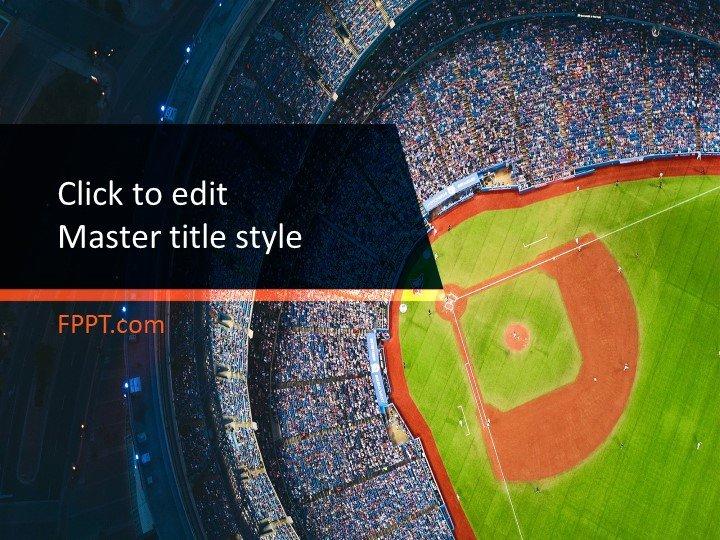 Free Baseball Stadium PowerPoint Template - Free PowerPoint Templates