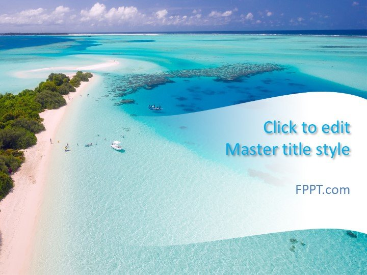 Free Paradise Beach PowerPoint Template - Free PowerPoint Templates