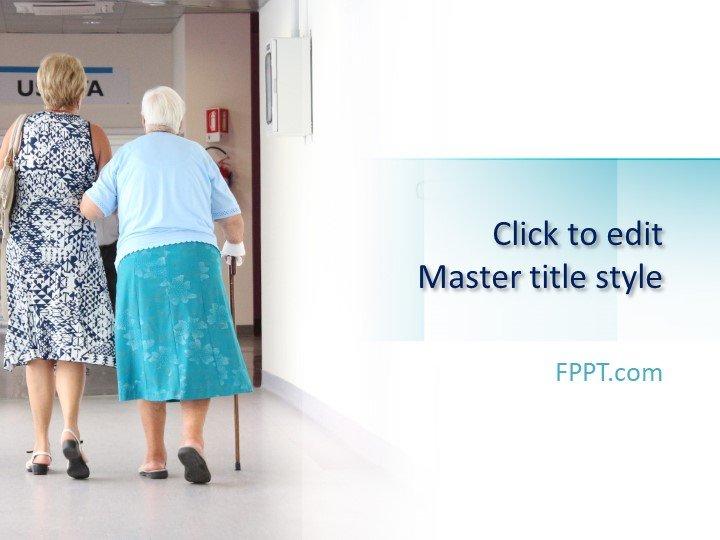 Free Nursing Home PowerPoint Template - Free PowerPoint Templates - nursing powerpoint template
