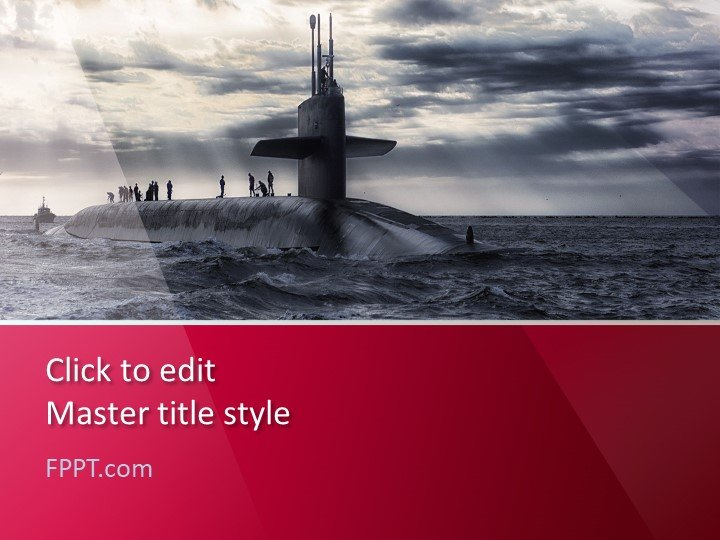 Free Submarine PowerPoint Template - Free PowerPoint Templates - navy powerpoint templates