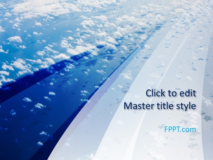 Free Blue Sky Nature PowerPoint Template - Free PowerPoint Templates - nature powerpoint