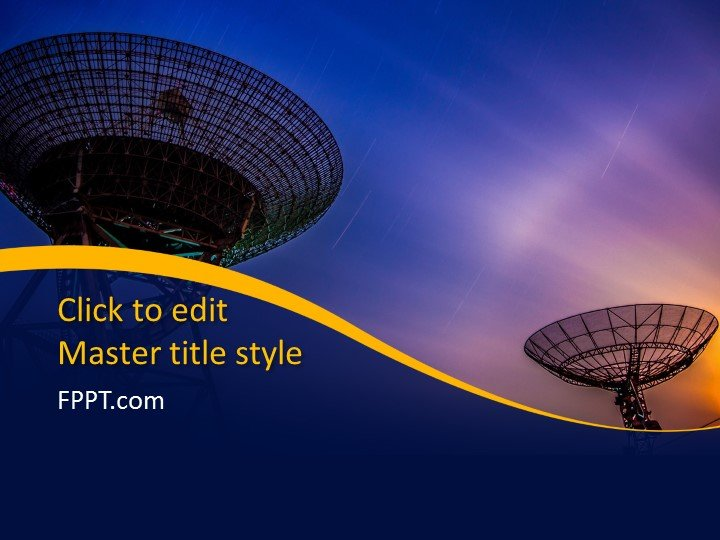 Free Satellite Communication PowerPoint Template - Free PowerPoint
