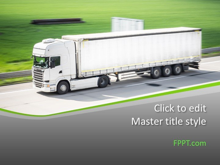 Free Logistics Truck PowerPoint Template - Free PowerPoint Templates