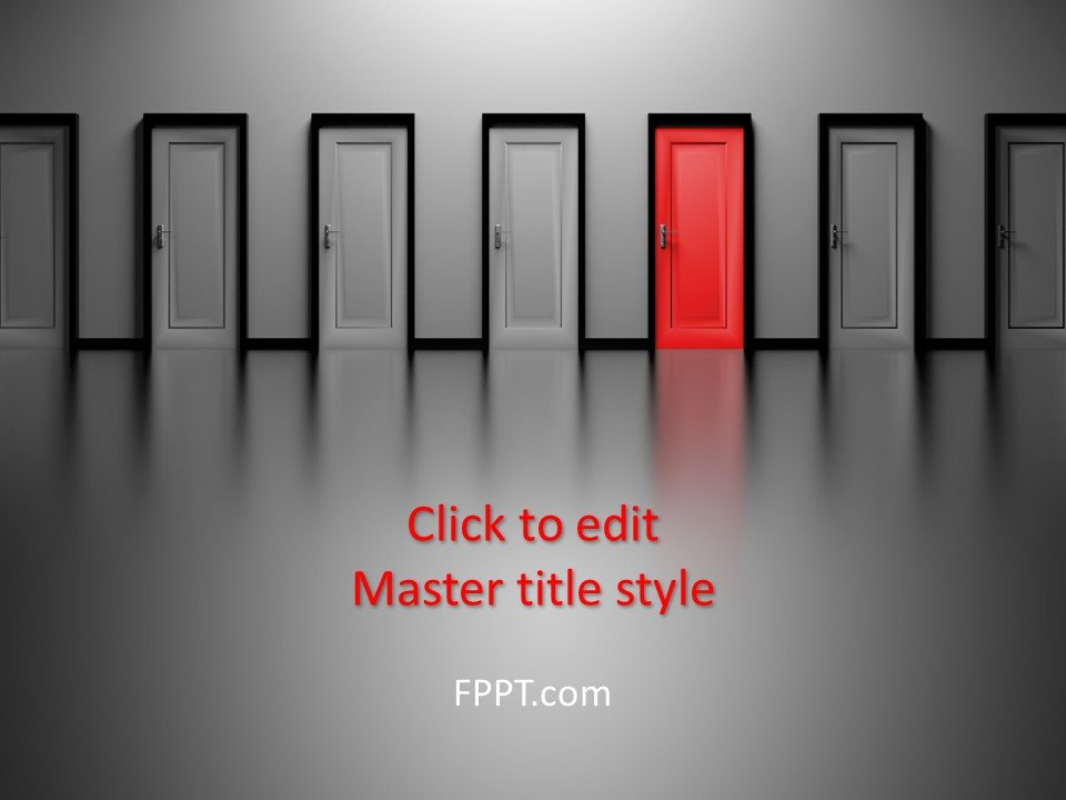 Free Doors PowerPoint Template - Free PowerPoint Templates