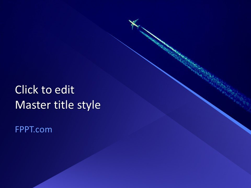 Free Plane PowerPoint Template - Free PowerPoint Templates