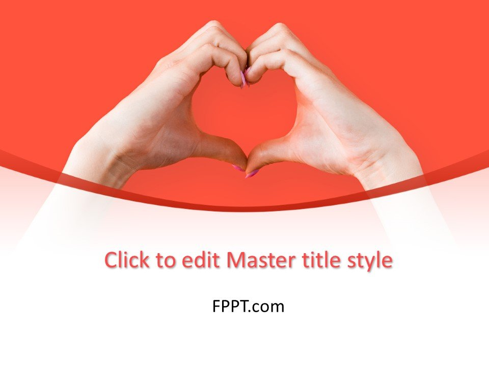 Free Hand Making Heart Sign PowerPoint Template - Free PowerPoint
