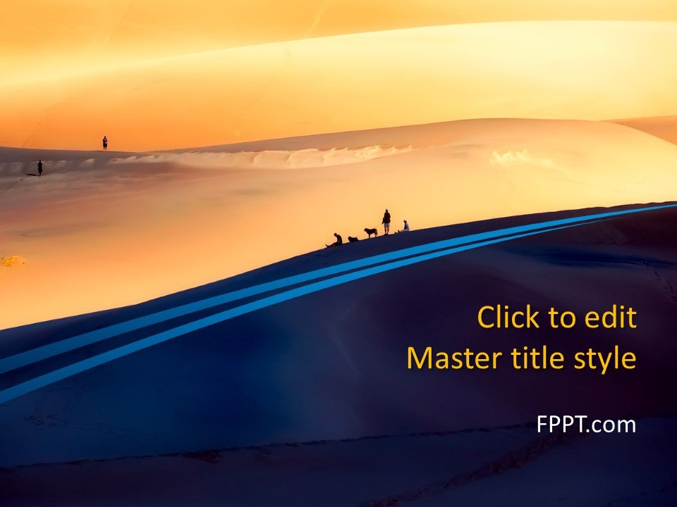 Free Dunes PowerPoint Template - Free PowerPoint Templates - template