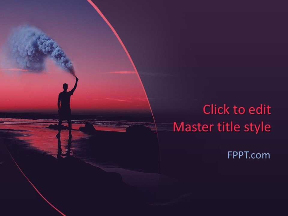 Free Color Smoke PowerPoint Template - Free PowerPoint Templates