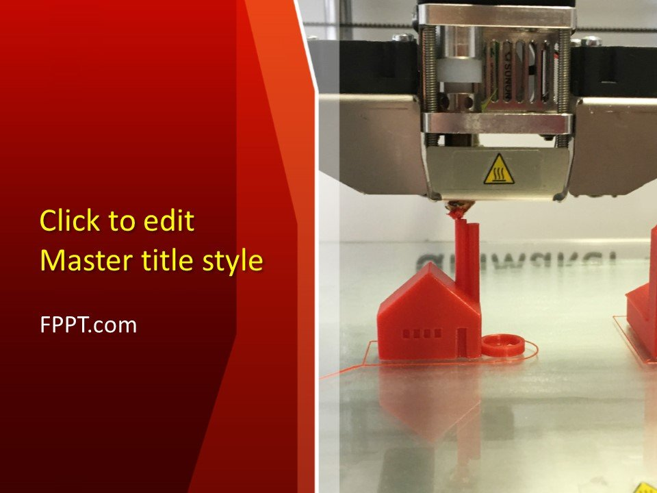 Free 3D Printer PowerPoint Template - Free PowerPoint Templates