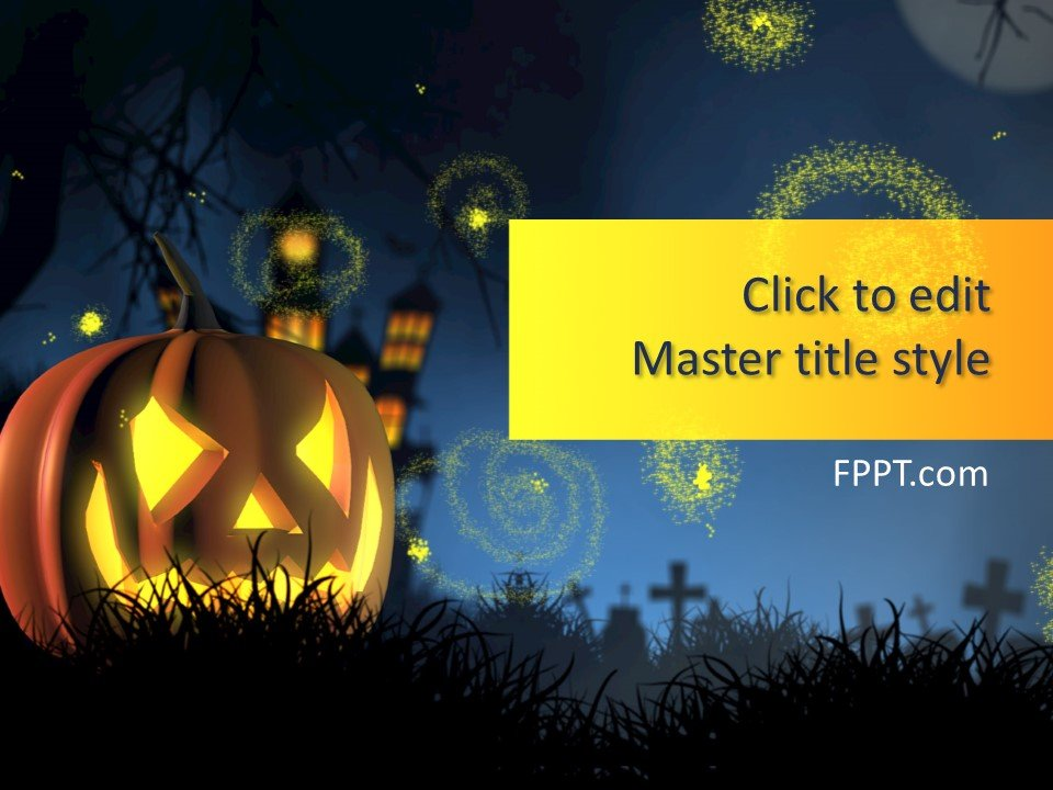 Free Halloween Background PowerPoint Template - Free PowerPoint