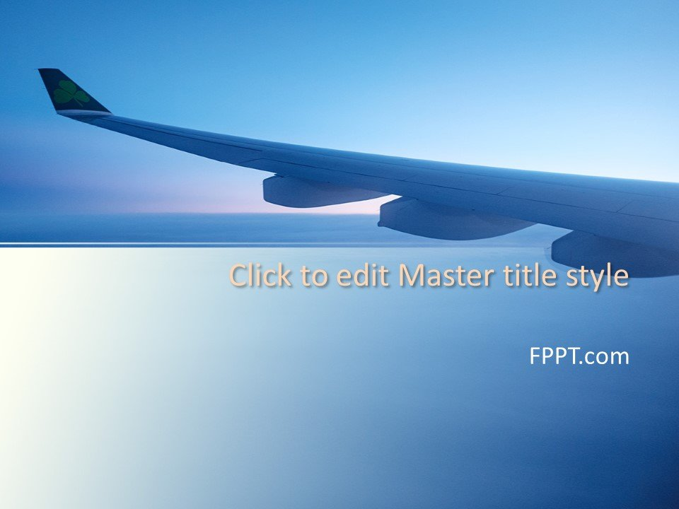 Tourism Blog Template Free Airplane Wing Powerpoint Template Free Powerpoint
