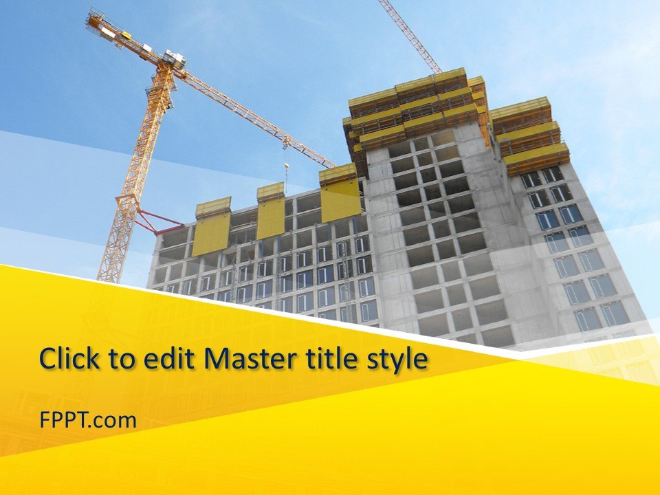 Free Under Construction Building PowerPoint Template - Free