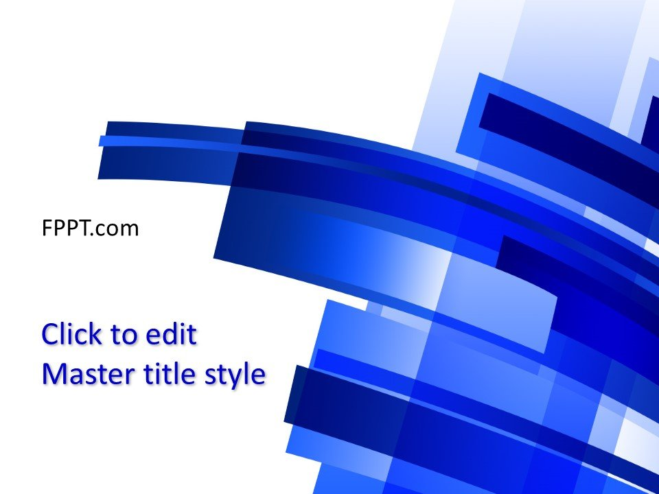 Free Background Blue PowerPoint Template - Free PowerPoint Templates