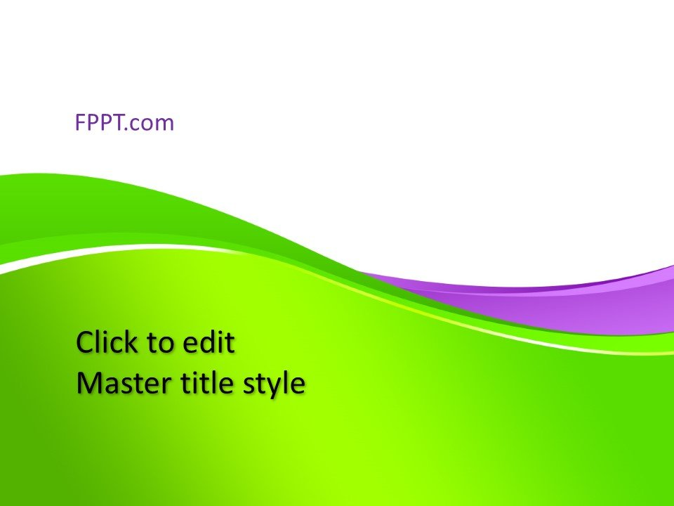 Free Background Green PowerPoint Template - Free PowerPoint Templates