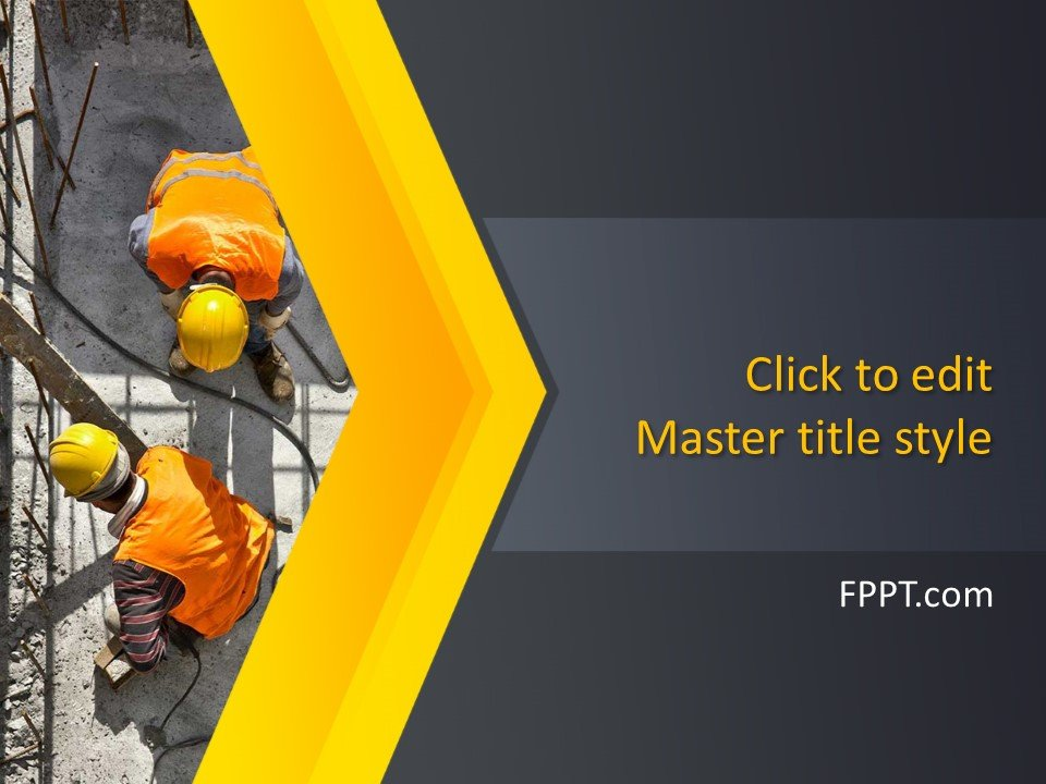 Free Building Construction PowerPoint Template - Free PowerPoint