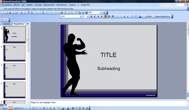 Free Gym and Fitness PowerPoint Templates - Fitness Templates Free